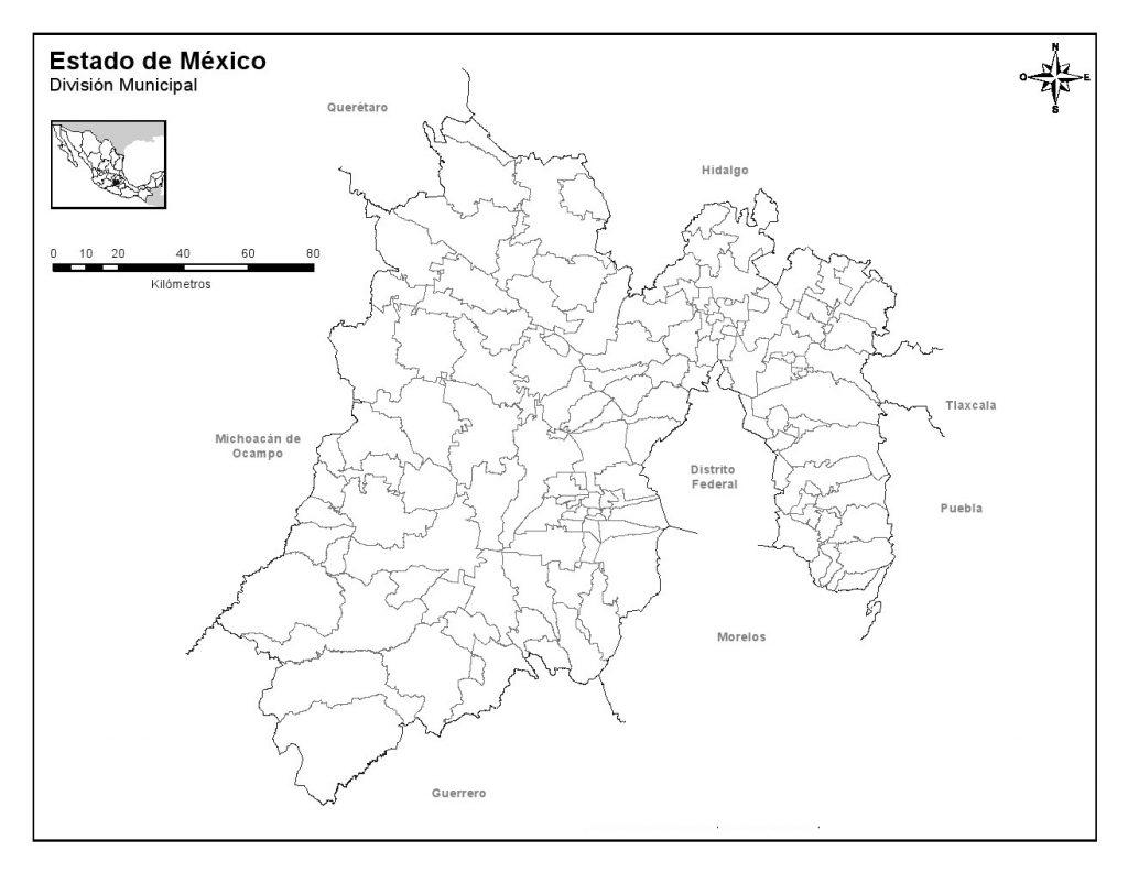 Mapa Del Estado De Mexico Con Sus Municipios Descargar E Imprimir Mapas