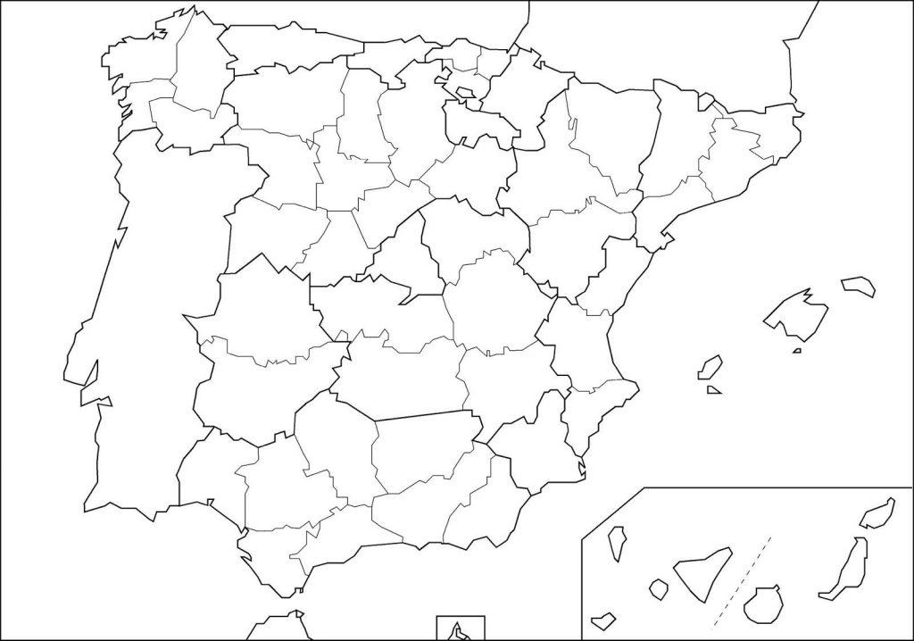 Mapa De España Politico Con Comunidades Y Provincias Descargar E Imprimir Mapas
