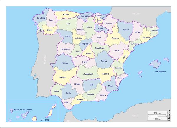 Mapa De Espana Pdf.Mapa De Espana Politico Con Comunidades Y Provincias Descargar E Imprimir Mapas